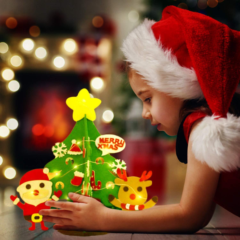 Amazon.com: JUSTDOLIFE - Árbol de Navidad de fieltro ...