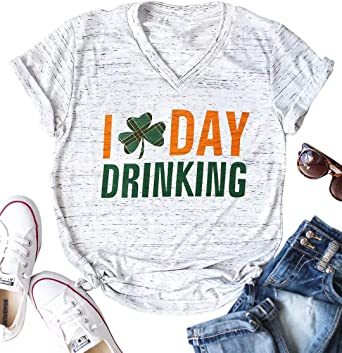 Happy Leaf Saint Patrick Day Print T Shirt Cotton Women Girls Short Sleeve Top