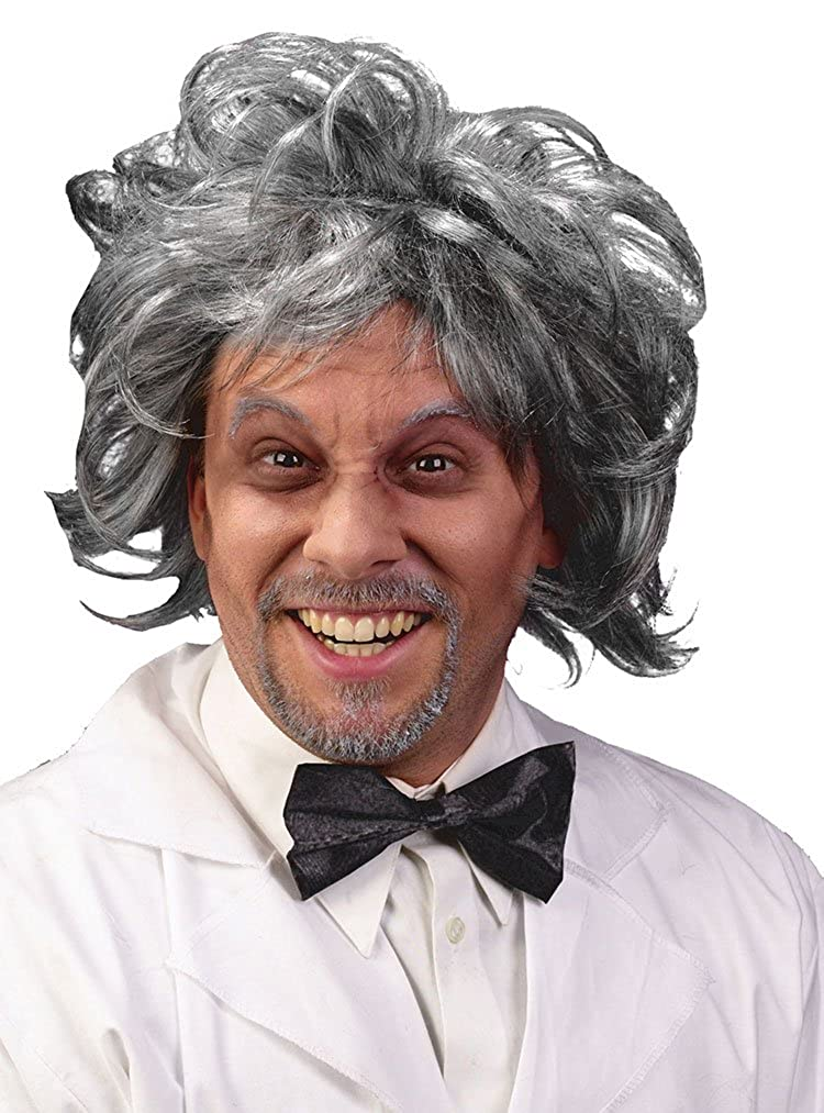 Fun World Mens Mad Scientist Halloween Party Costume Wig Multi Standard 8169