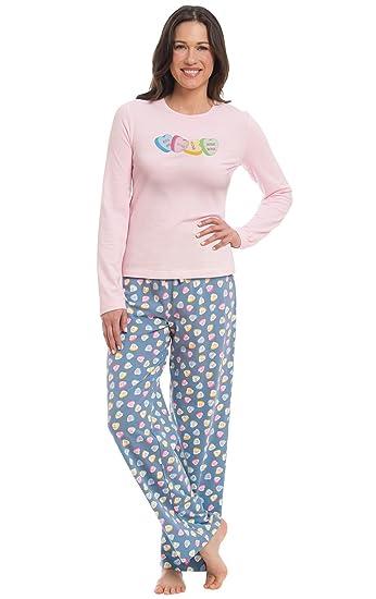 dd20a966d Amazon.com  PajamaGram Women s Conversation Hearts T-Shirt Pajamas ...