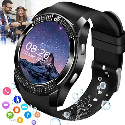 Ifuntecky Smart Watch Smartwatch For Android Phones Smart Watches Touchscreen With Camera Bluetooth Watch Cell Phone With Sim Card Slot Compatible Samsung Ios Phone 12 12 Pro 11 10 Men Women