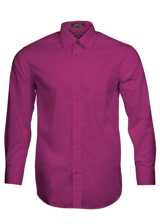 Alberto Danelli Mens Solid Long Sleeve Dress Shirt At Amazon Mens