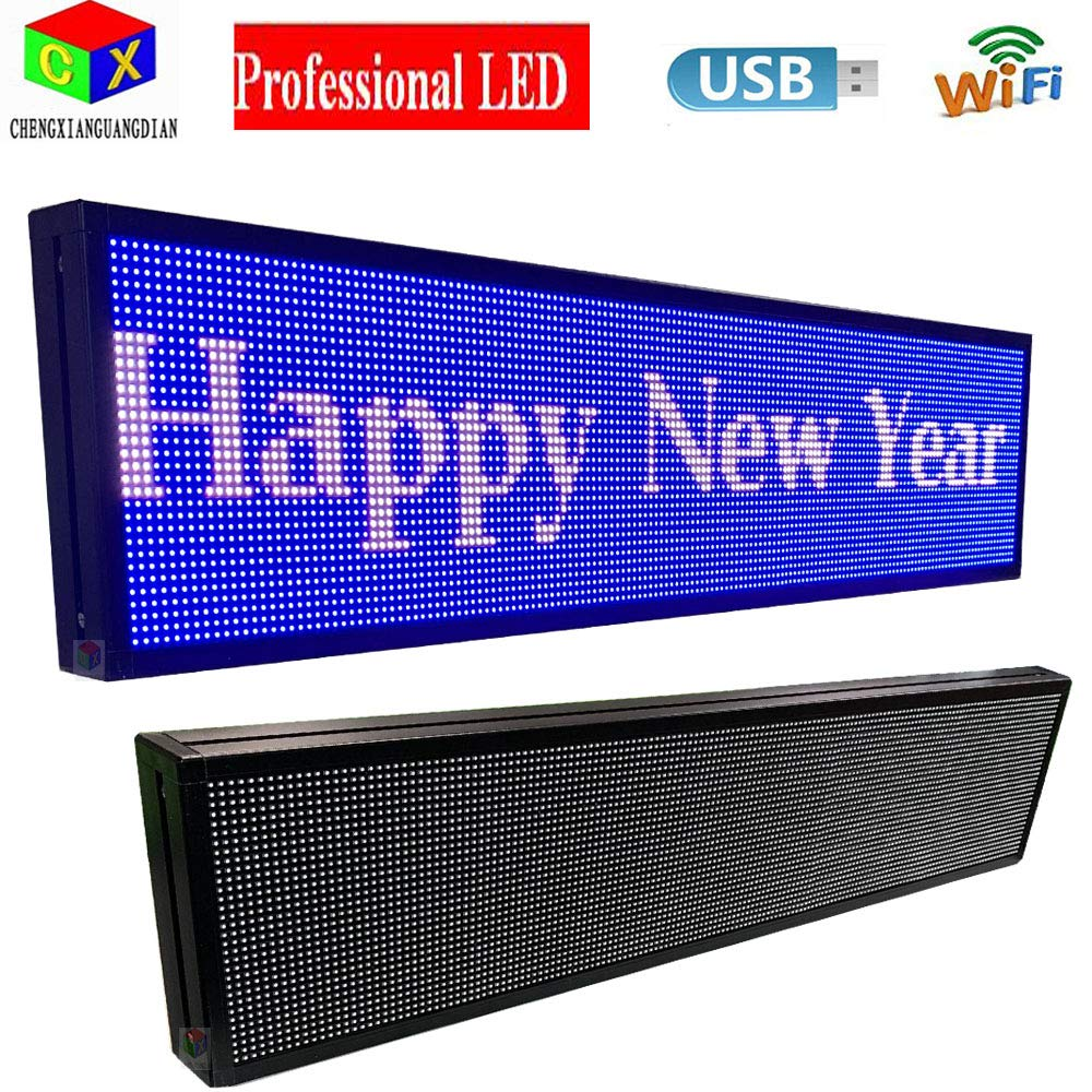 P6 7-Color Indoor led Sign and USB programmable Scrolling Texts & Time LED Display by CXGuangDian (Image #4)