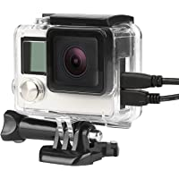 SHOOT Side Open Housing Case Wire Connectable for Gopro Hero 3+/4 Black Silver Camera