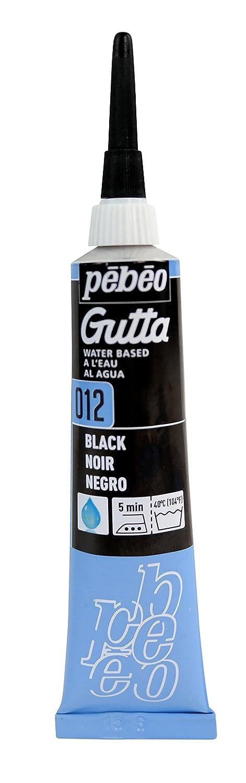 Pebeo Setasilk Silk Painting Water Based Gutta 20-Milliliter Tube, Black Pebeo Inc. 147-012
