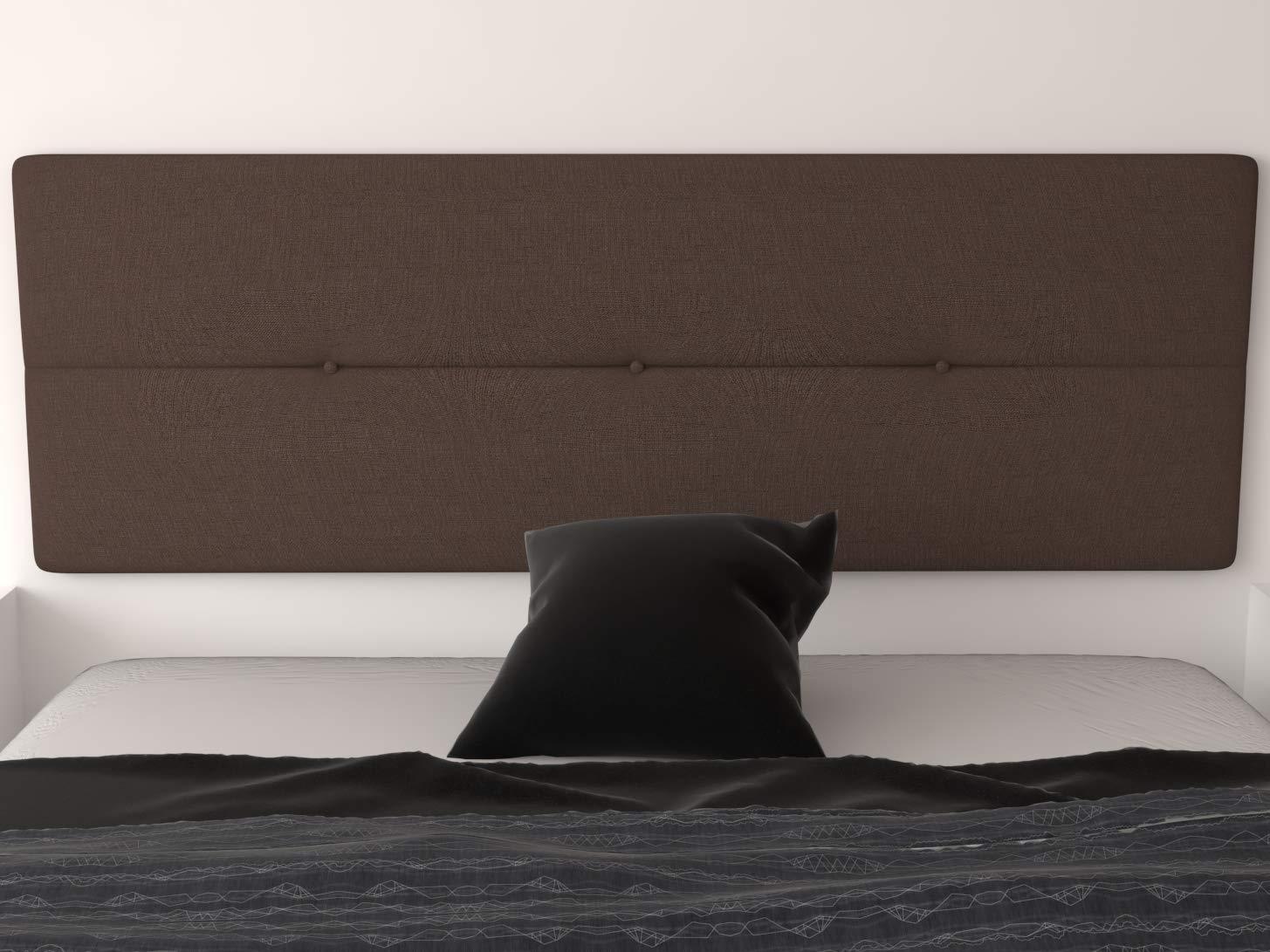 Cama Matrimonio Chocolate LA WEB DEL COLCHON Cama Juvenil Cabeceros tapizados Dormitorio Cabezal Cama Cabecero Tapizado G/énova para Cama de 80 90 x 55 cms