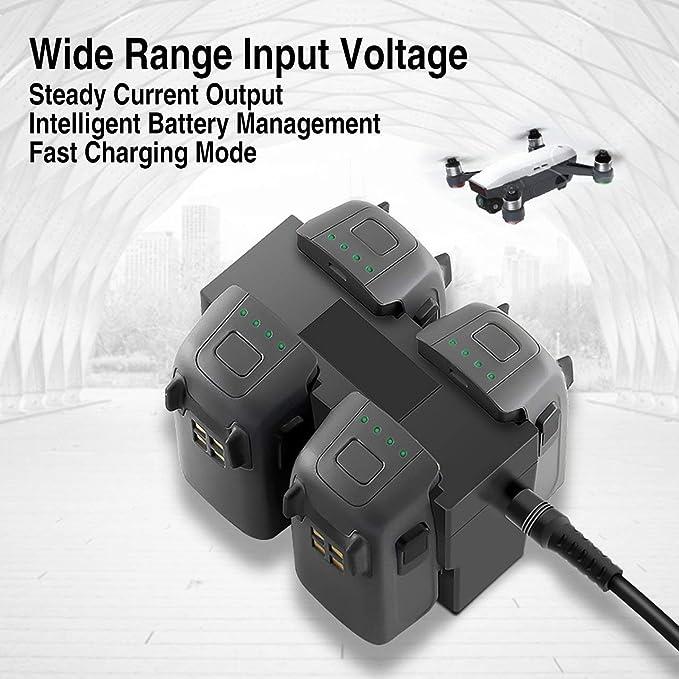 Station Centrale de Chargeur de Batterie Quadruple pour Le Drone d/étincelle DJI Spark Drone Tineer Chargeur parall/èle Rapide