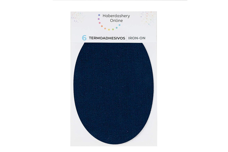 Parches termoadhesivos para reparar ropa deportiva Rodilleras para ch/ándal 6 Coderas o rodilleras de 13,9 x 9,3 cms Color: azul marino