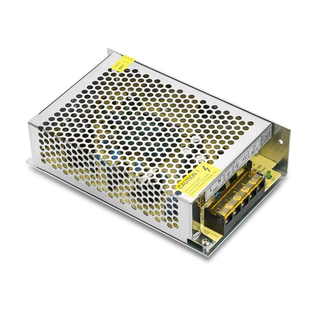 PHEVOS 5v 12A Dc Universal Switching Power Supply for Raspberry PI models,CCTV, Radio, Computer Project,LED strips pixel lights(5V 2801, 5V 2811 ,5V WS2812B ).