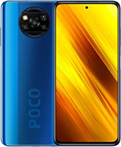 Xiaomi Poco X3 Smartphone, NFC, Dual SIM, 6GB RAM, 64GB, Global Version (Cobalt Blue) + Mi True Wireless Earbuds Basic S