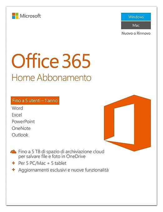 112 opinioni per Microsoft Office 365 Home [5 PC / 1 anno] (Versione 2016)