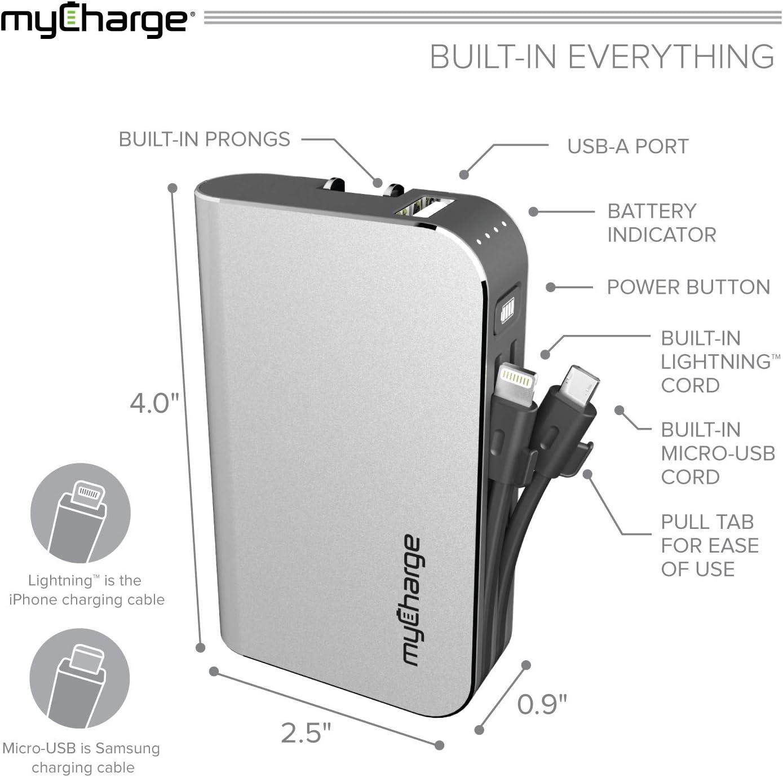 Amazon.com: myCharge HubMini cargador portátil 3300mAh ...