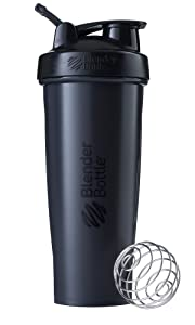 BlenderBottle C01636 Classic Loop Top Shaker Bottle, 32-Ounce, Full Color Black