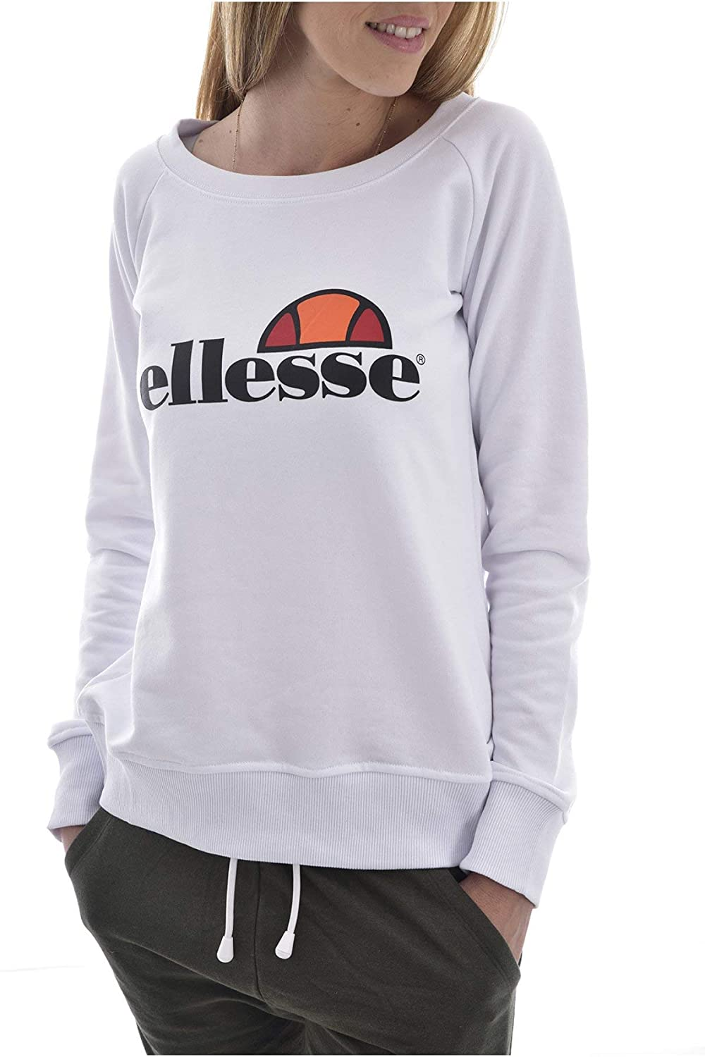 Ellesse Eh F Sws Col Rond Blanc, Sudadera