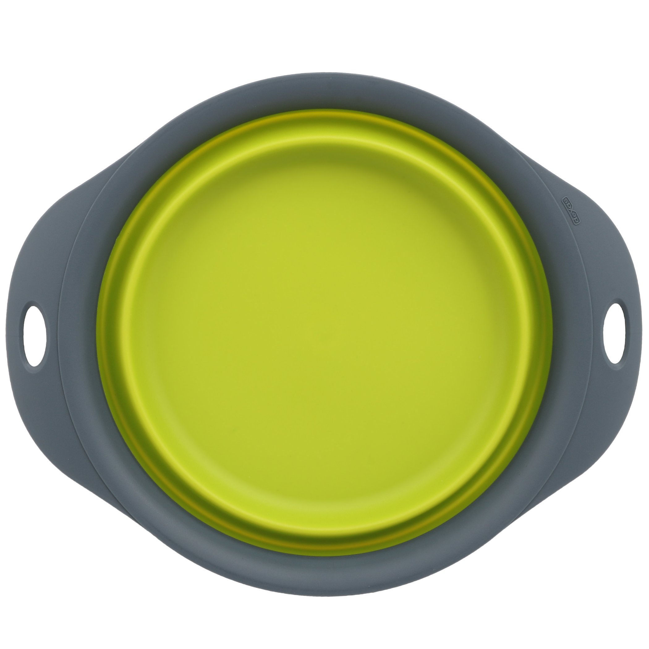 Dexas Popware for Pets Single Bowl Collapsible Travel Feeder, 6 Cup Capacity, Green