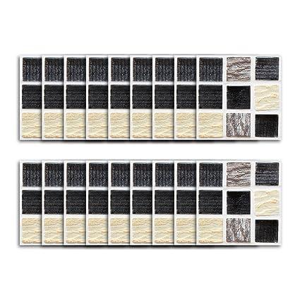 DMMASH Adesivi Per Piastrelle Scrub Brick Mosaico Adesivo ...