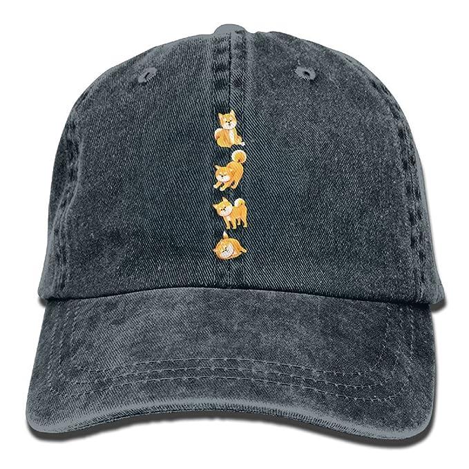 b670bb6a749 Amazon.com  Cute Shiba Dog Lovly Animals Shiba Inu Printed Baseball Caps  Cowboy Hats Sun Hats  Clothing