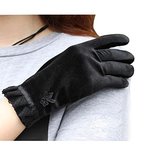 XGMSD Otoño E Invierno Damas Párrafo Corto Versión Coreana Terciopelo Antideslizante Pantalla Táctil...