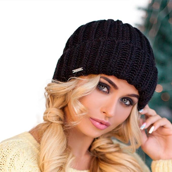 535e4d41123c8 Braxton Hats - Women s Knit Fleece Beanie - Fisherman Men s Winter Wool  Grey Cap