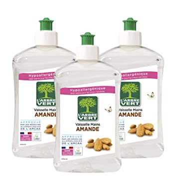 LArbre Vert Líquido lavavajillas, almendra, 500 ml, lote de ...