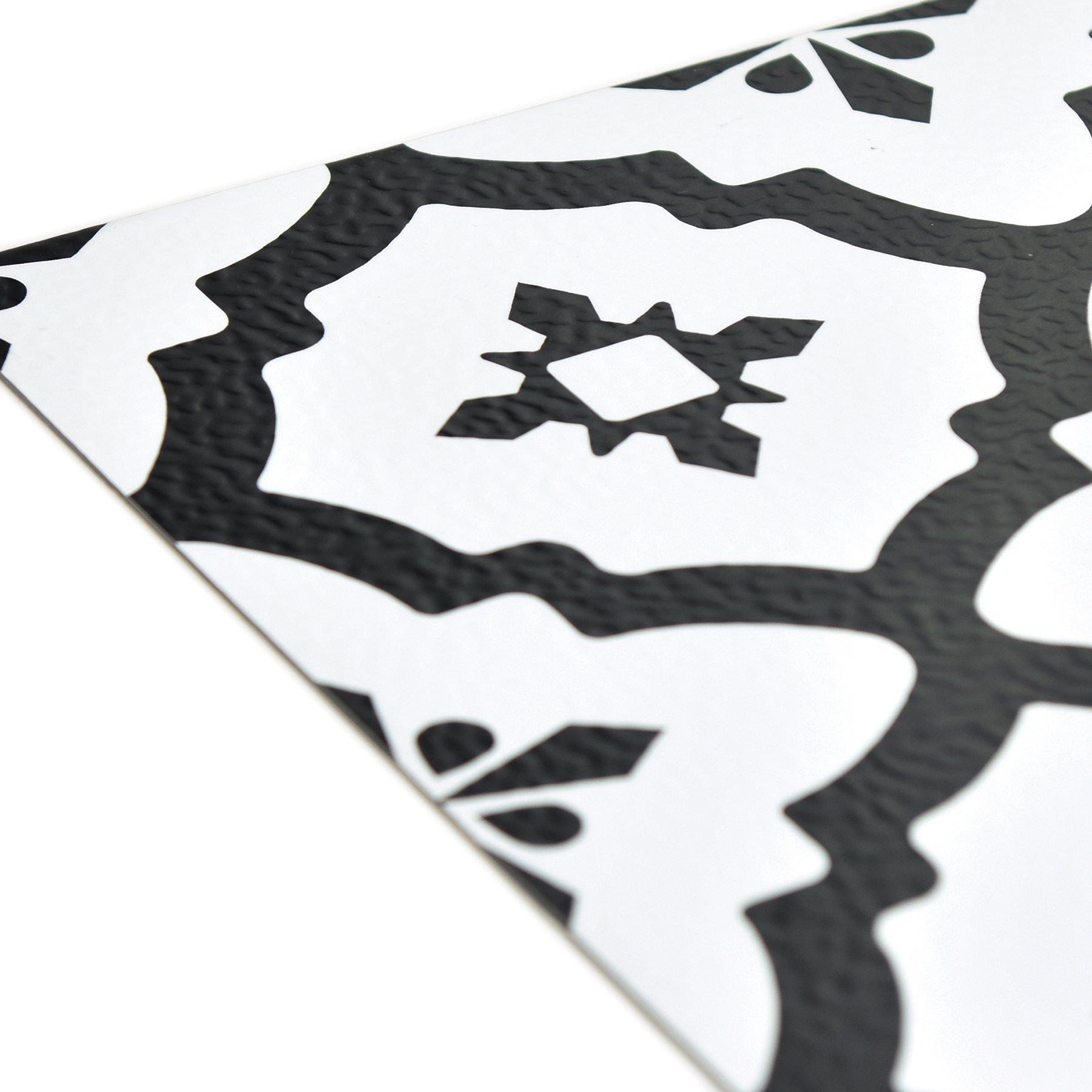 FloorPops FP2480 Comet Peel & Stick Tiles Floor Decal Black by FloorPops (Image #5)
