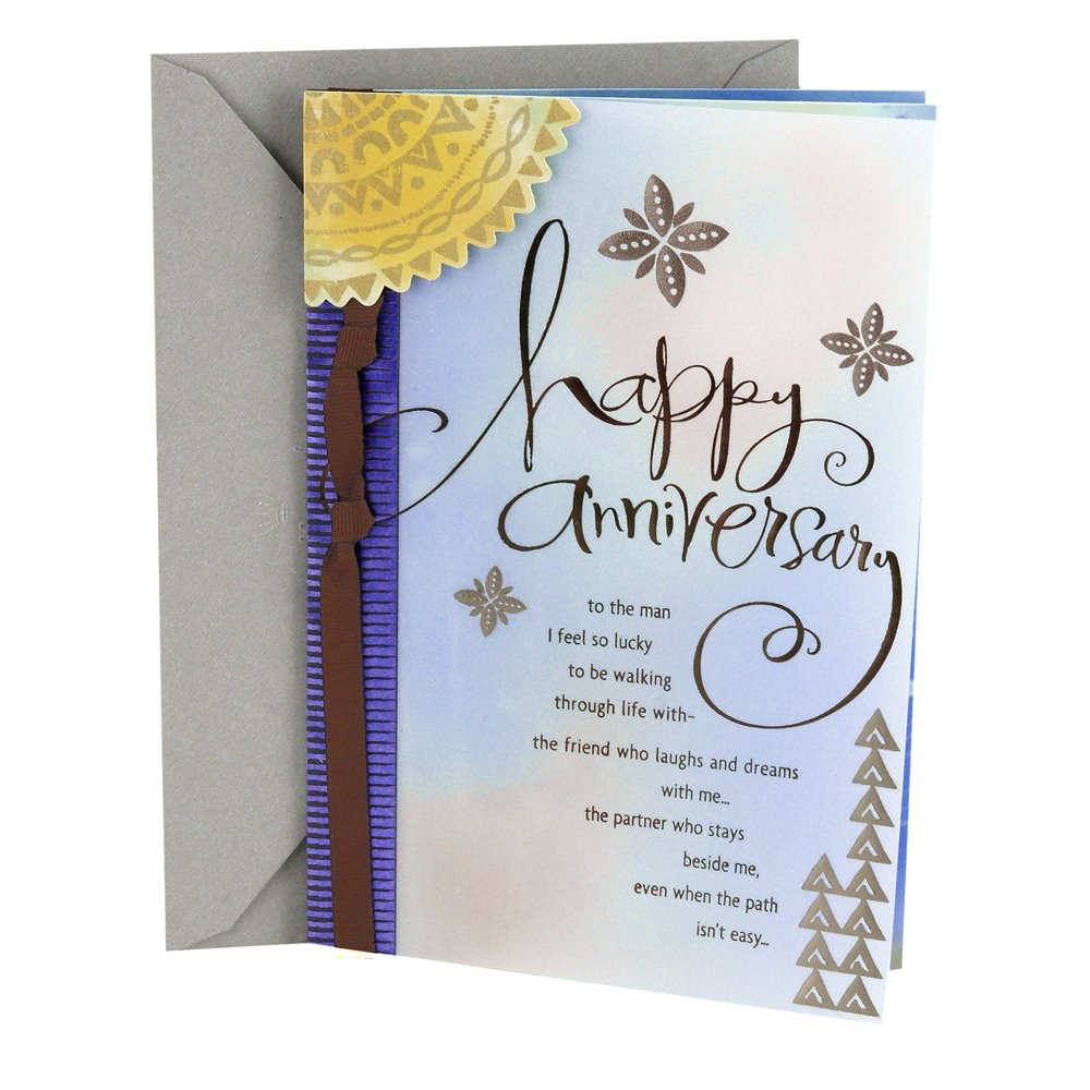 Amazon Hallmark Anniversary Greeting Card To Husband Man I
