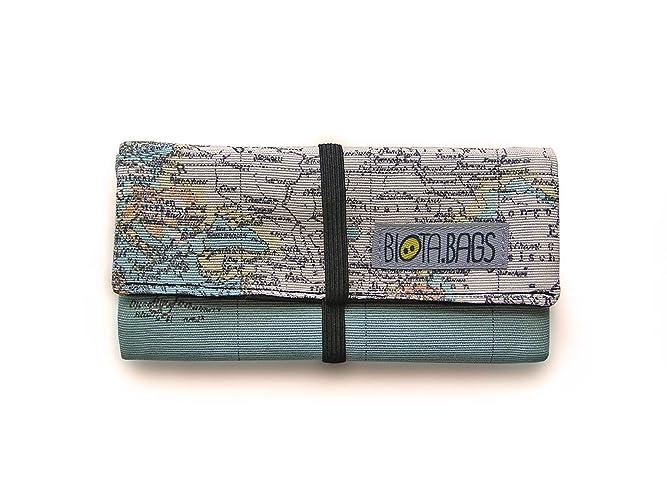Funda para tabaco de liar mapamundi cierre goma