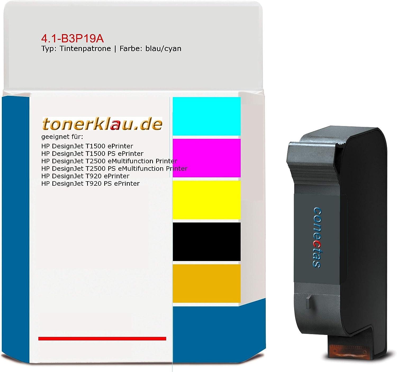 compatible Cartucho de tinta 4.1 de B3P19 A para: HP Designjet T2500 PS eMultifunction Printer como repuesto para HP B3P19 A/727: Amazon.es: Oficina y papelería