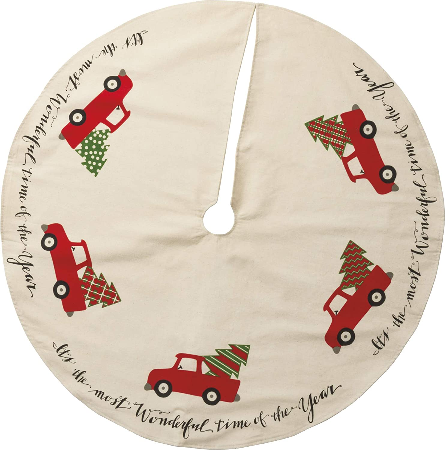 """Primitives By Kathy Cotton Tree Skirt Truck, 36"""""""