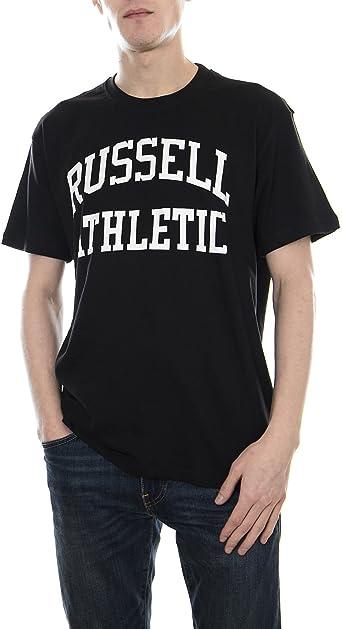 Russell Athletic Camiseta de Hombre en Tela Negra A8-002-1-099: Amazon.es: Ropa y accesorios