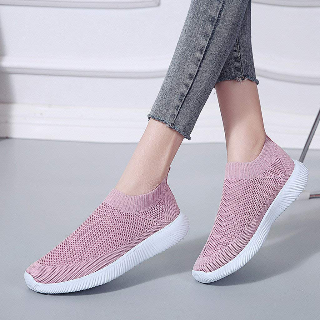 8ce18fe719d8 BaZhaHei Women Sheos Girl Loafers Mesh Breathable Flats Round Toe Sports  Shoes Lace-up Sneakers Running Shoes Casual Shoes Single Shoes Size 3.5-6   ...
