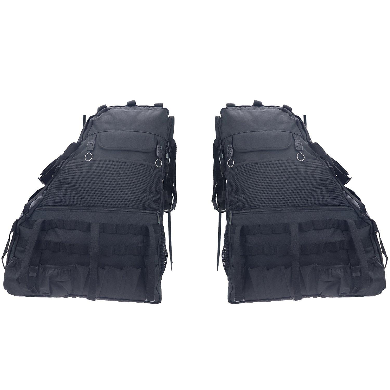 MOEBULB Roll Bar Storage Bag Cargo Cage Saddlebag for 1997-2017 Jeep Wrangler JK TJ LJ /& Unlimited 4-Door with Multi-Pockets Tool Kits Bottle Drink Phone Tissue Gadget Holder 4D, 2-Pack