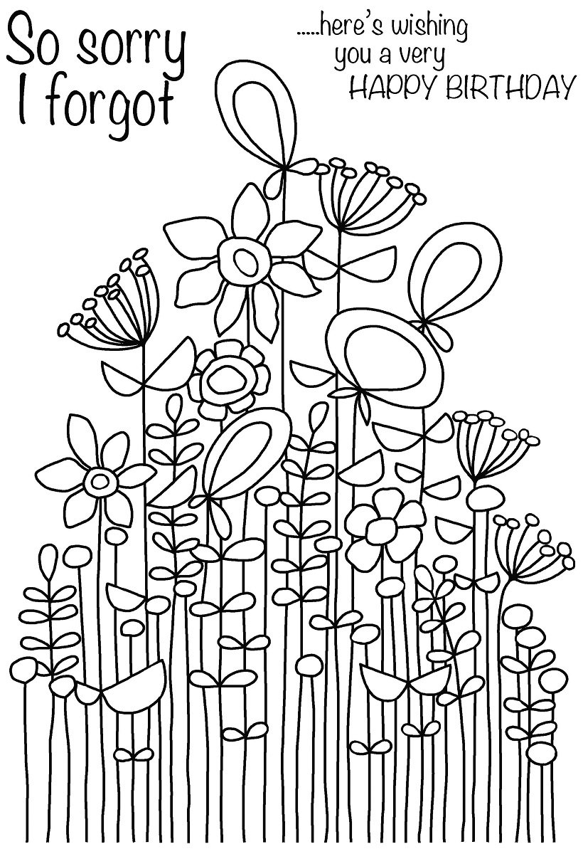 Woodware A6 Clear Cling Stamps - JGS572 Long Tall Sally Bunch by WoodWare