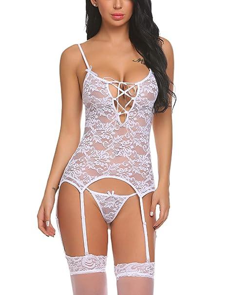 2f0c0442b5a8 Swiftt Mujer Lencería Ligueros Pijama Encaje Ropa Interior Dormir Sexy  Erotica: Amazon.es: Ropa y accesorios
