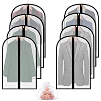 Garment Bags for Closet Storage,8 Packs 40'' Clear Moth Proof Breathable Hanging Lightweight Dust Covers with Cedar Ball…