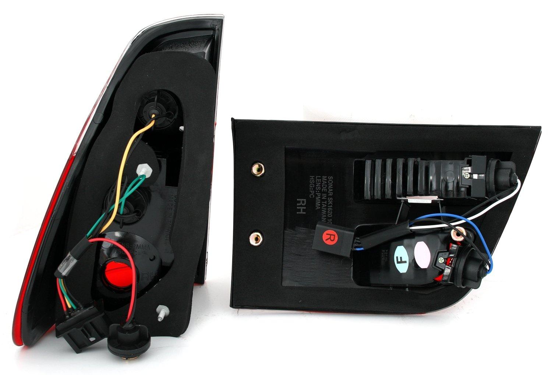 KG R/ã /¼ ckleuchten Juego en Color Rojo de Wei/ã/ÿ AD Tuning GmbH /& Co