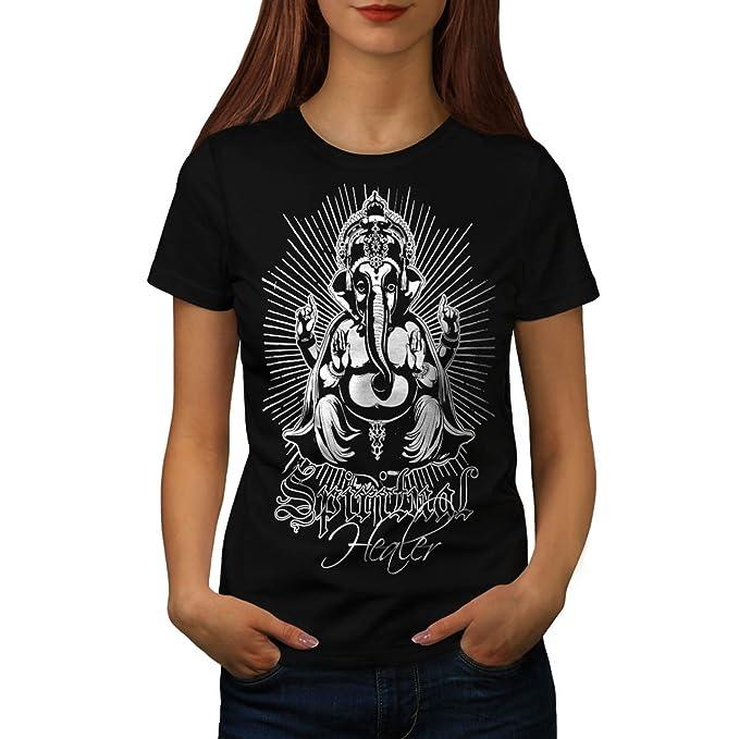 Mujer Camiseta 2 De Nuevo Heiler Negro Xs Geistig Ganesha Dios tw1x7p