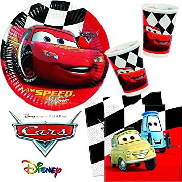Paper Plates/Serviettes/Cups 40 Piece Set Cars Red Plates Children Kindergarten Pappe Schule  sc 1 st  Amazon UK & Paper Plates/Serviettes/Cups 40 Piece Set Cars Red Plates Children ...