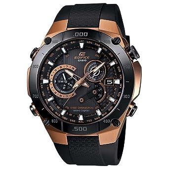 Amazon.com  Casio Edifice Black Dial Black Resin Quartz Male Watch ... cfcdf1dc9