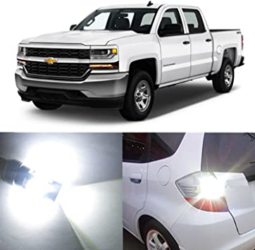 Alla Lighting 2x Super Bright White 3047K 3156K 3157K 3157 LED Bulb Turn Signal Brake Stop Back-Up Reverse Light Lamp for 1999~2013 Chevrolet Chevy Silverado 1500//1999~2014 Silverado 2500 HD 3500 HD