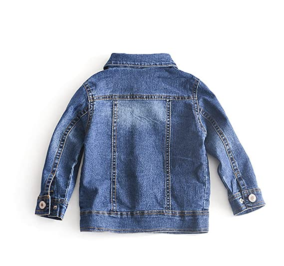 7be68f87e1c9 Amazon.com  UNIQUEONE Baby Girl s Denim Jacket with Rose Flower ...