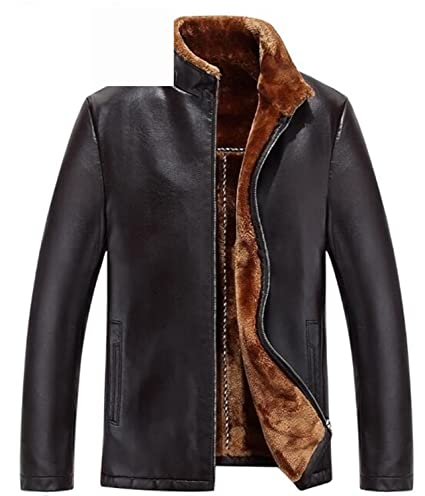 ... manteau homme jaqueta de couro chaqueta cuero hombre winter jacket men genuine leather jacket men BROWN 2XXXL High Grade at Amazon Mens Clothing store: