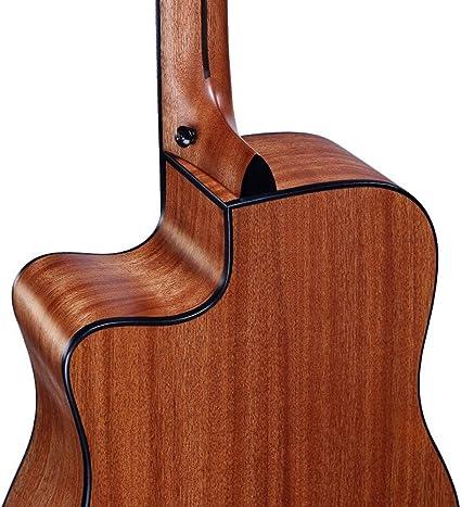 Guitarra de madera para principiantes G15, amarillo: Amazon.es ...
