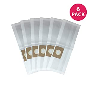 Crucial Vacuum Replacements for Vacmaster 4-Gallon Bags Fit VF408 Wet & Dry Vacs, Compatible with Part # VFDB (6 Pack)