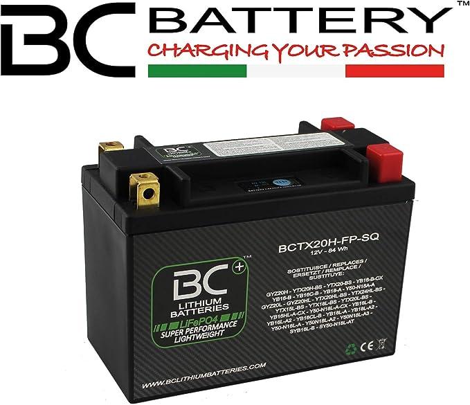 BC Lithium Batteries BCTX20H-FP-SQ Batería Litio para Moto LiFePO4