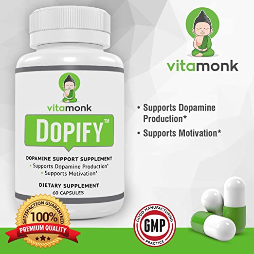 Amazon.com: Dopify™ Dopamine Supplement by VitaMonk - Superior Dopamine Booster with Uridine Monophosphate, Mucuna Pruriens Extract (L-Dopa), L-Theanine, ...
