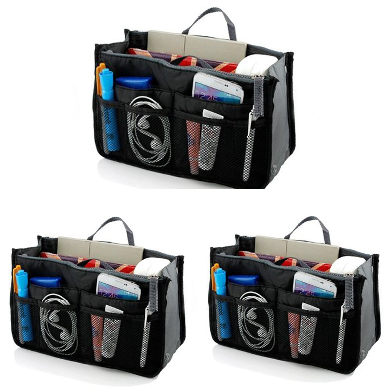 Go Beyond(TM) Handbag Insert-Organizer Tote (Bundle of 3 Black)
