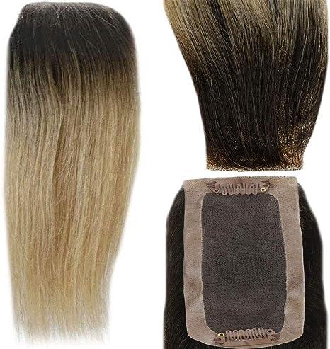 LaaVoo 10 Pulgadas Topper Hairpiece #4T18/22 Balayage Marrón ...