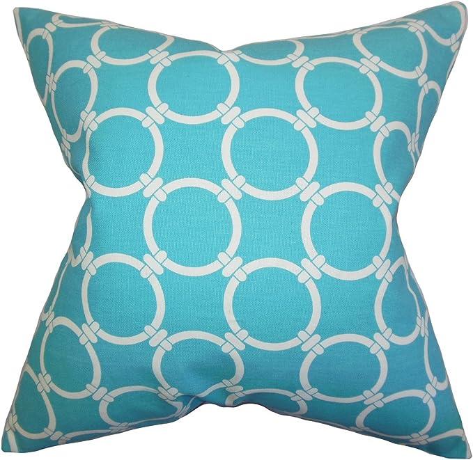 Amazon Com The Pillow Collection Betchet Geometric Bedding Sham Sky Blue European 26 X 26 Home Kitchen