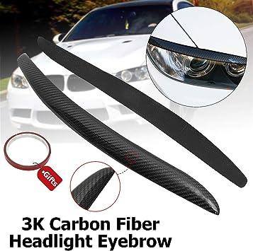 For 3 Series E90 E91 2006-2011 Carbon Fiber Headlamp Eyebrow Cover Protector